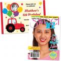 kid's birthday party invitations, graduation invitations and matching stationery