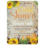 intage Summer Sunflowers Bridal Shower