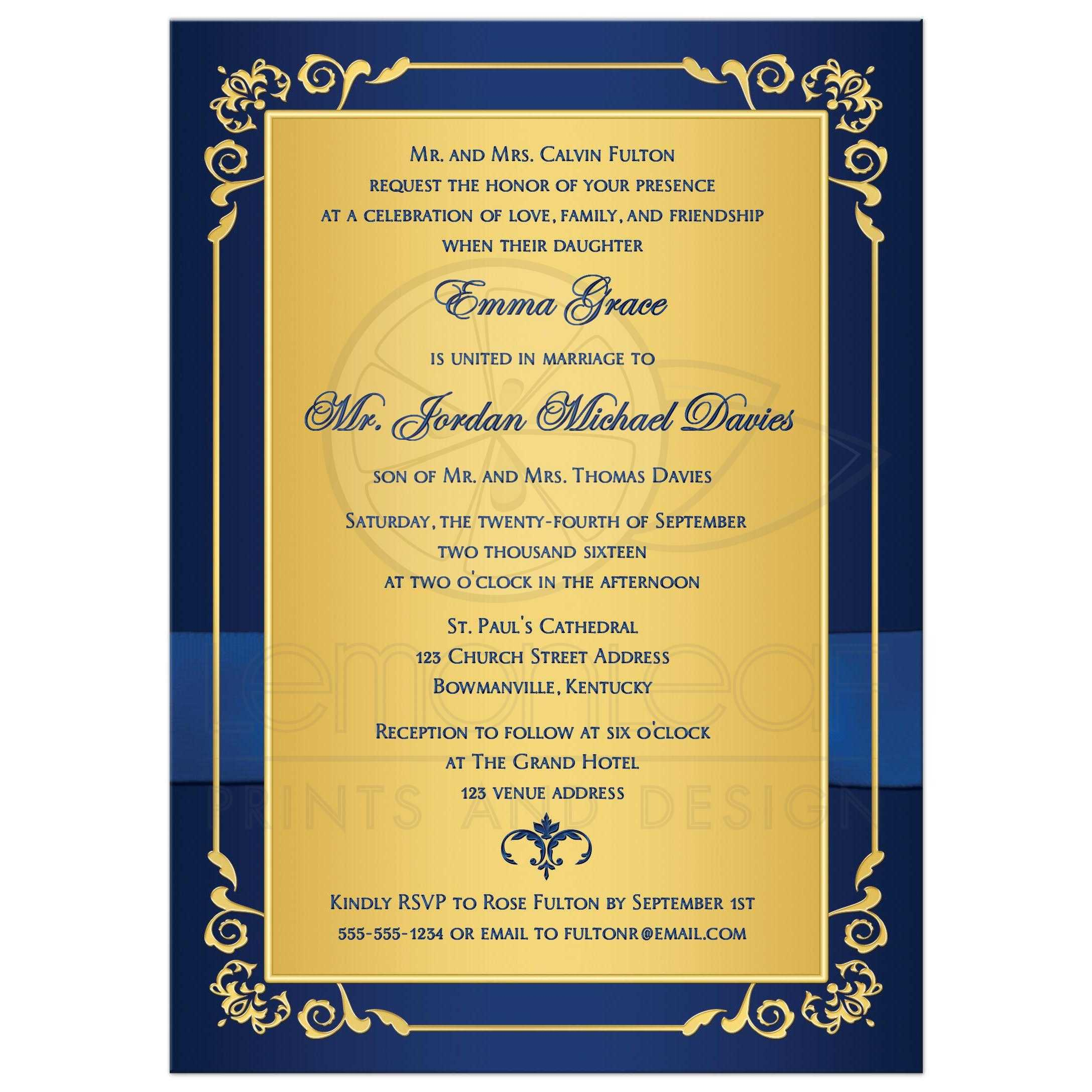 Wedding Peacock Invitations with nice invitations template