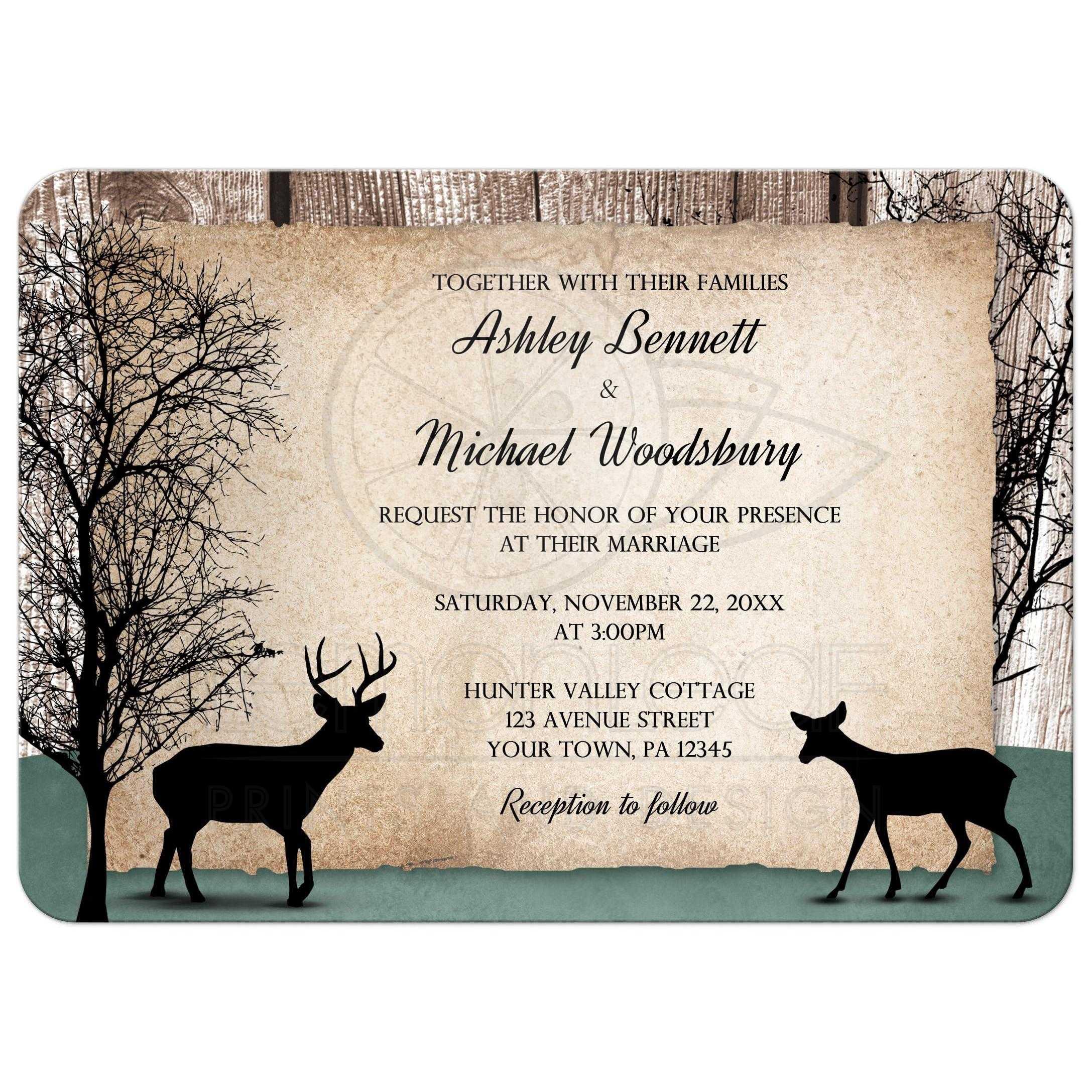 Rustic Woodsy Wedding Ideas: Wedding Invitations