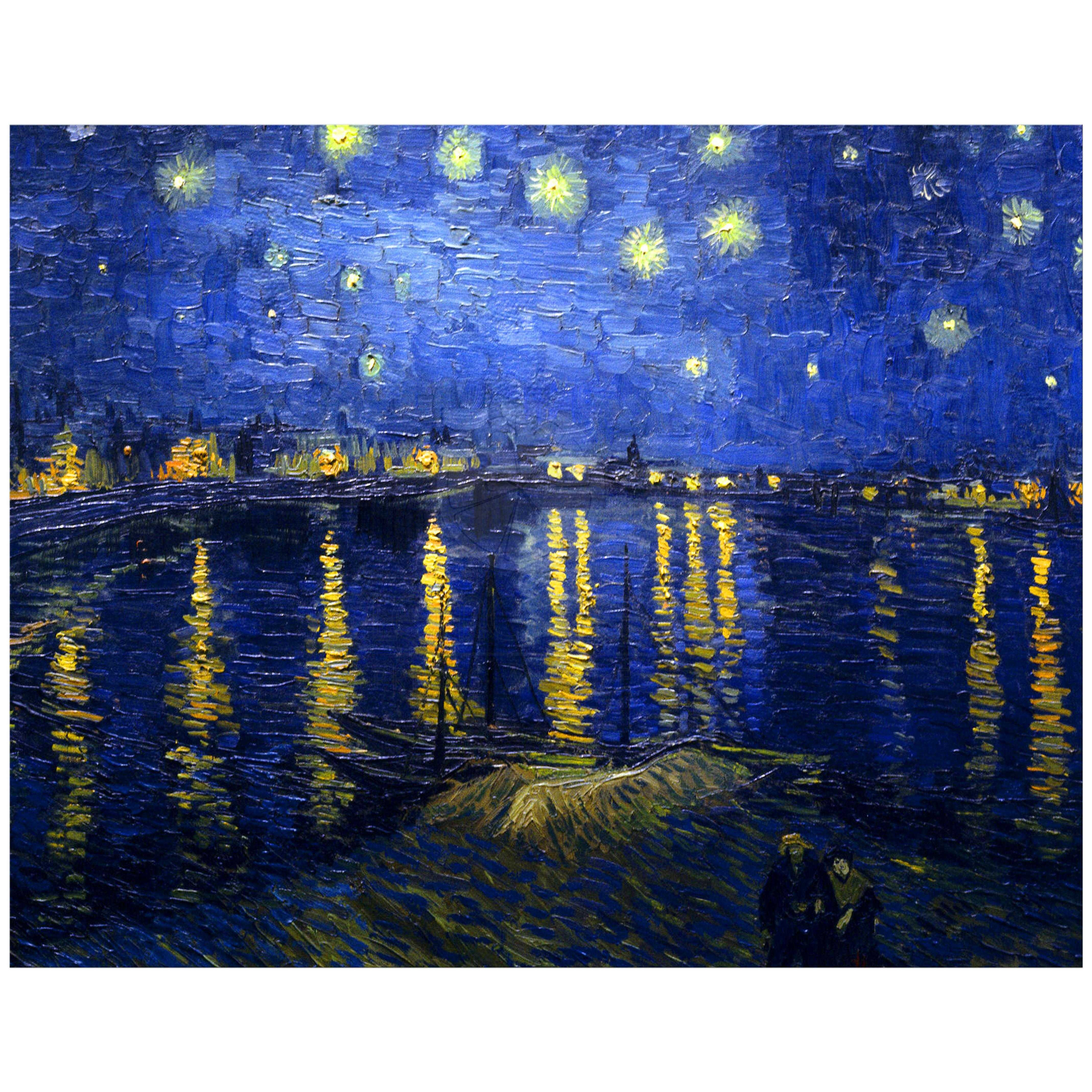 11x14 Wall Art Featuring Van Goghs Starry Night Over The Rhone