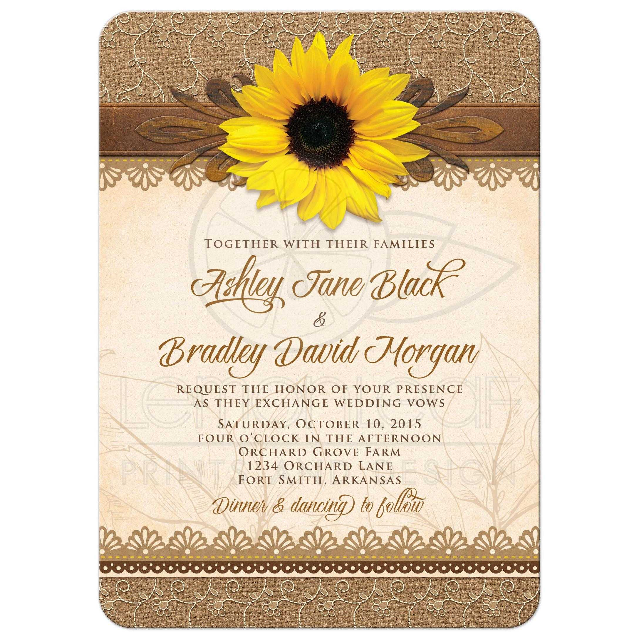 Sunflower Wedding Invitations Kits for beautiful invitations layout