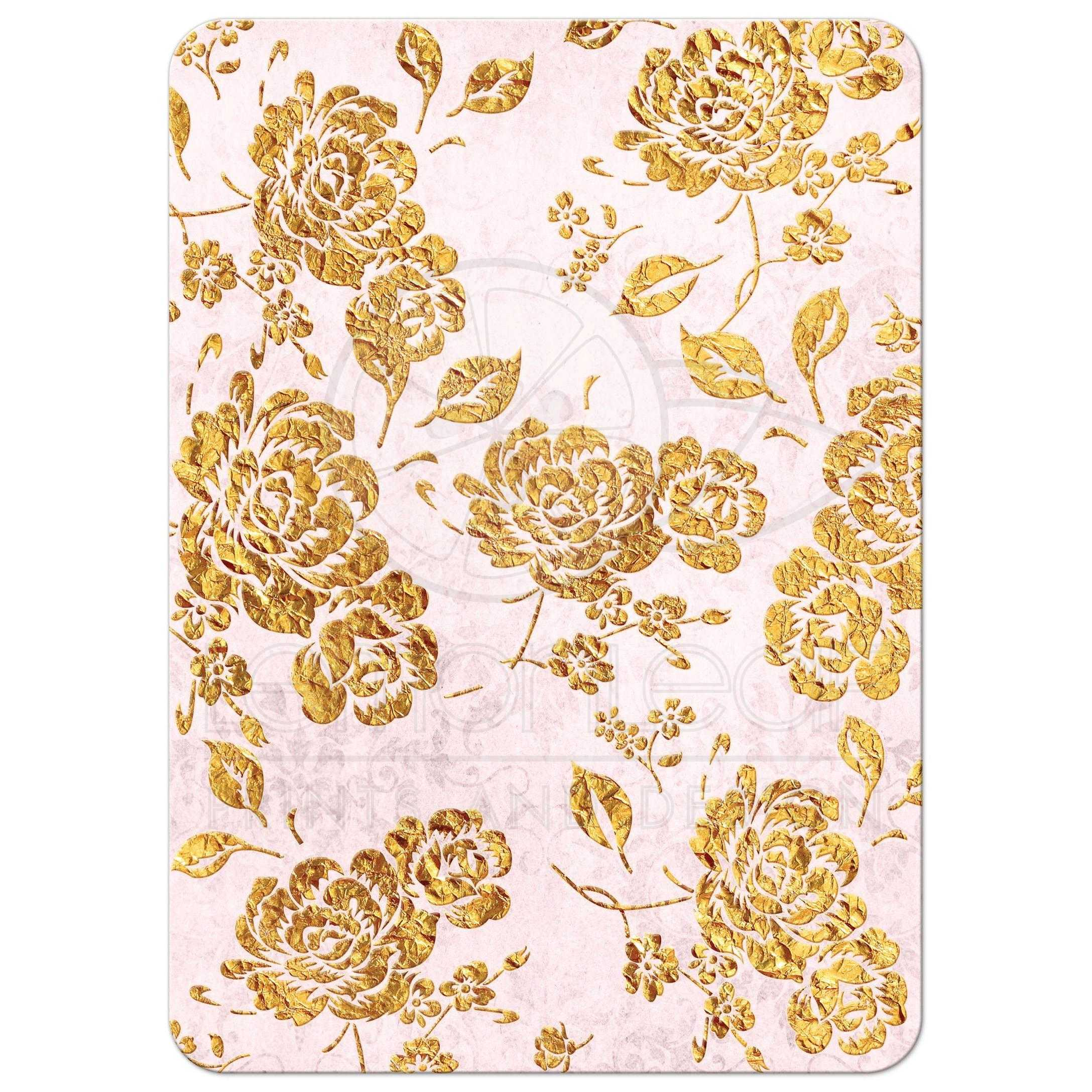 Wall Stickers Decor Modern Wedding Invitation Vintage Floral Blush Pink Ivory
