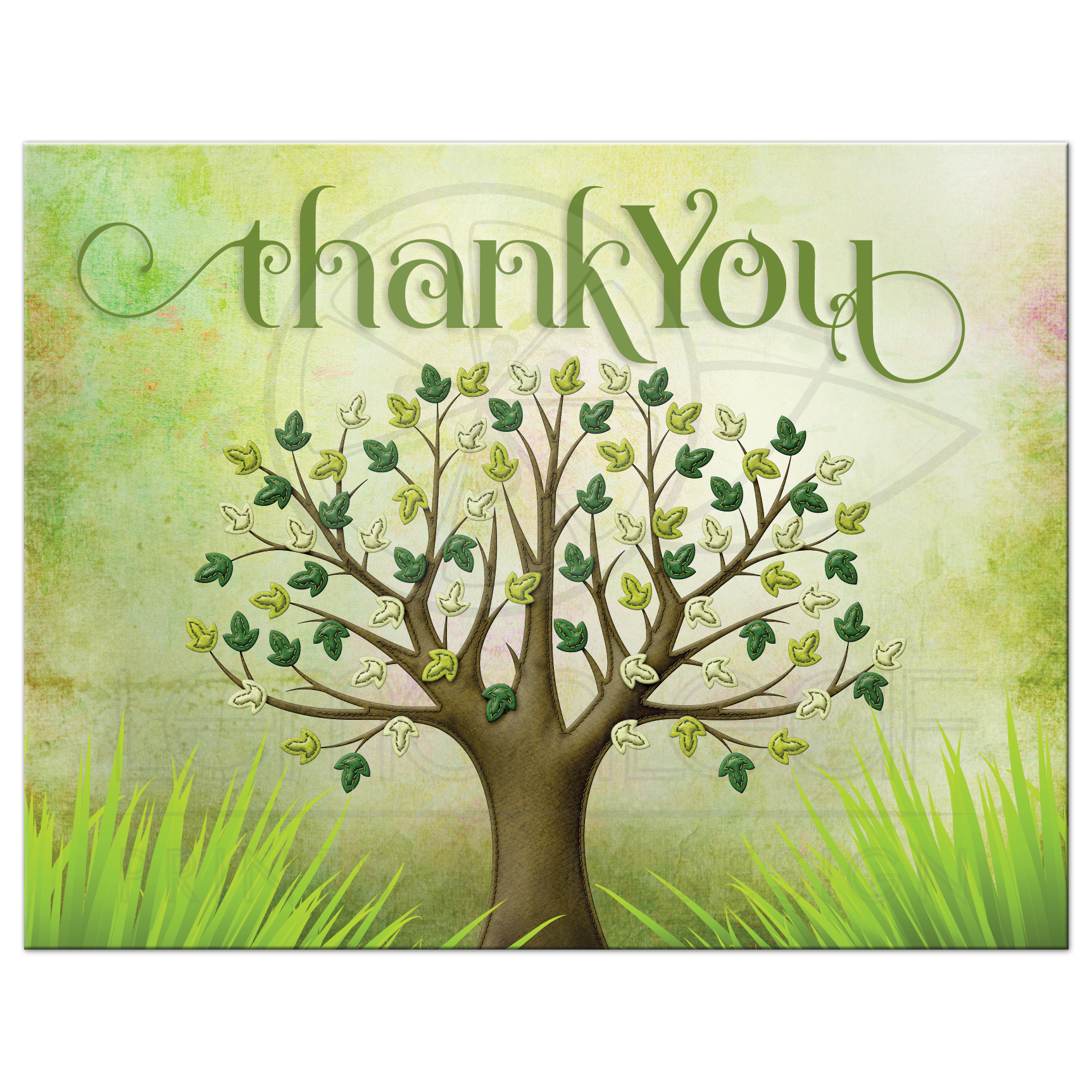 Spring Tree of Life Thank You Postcard