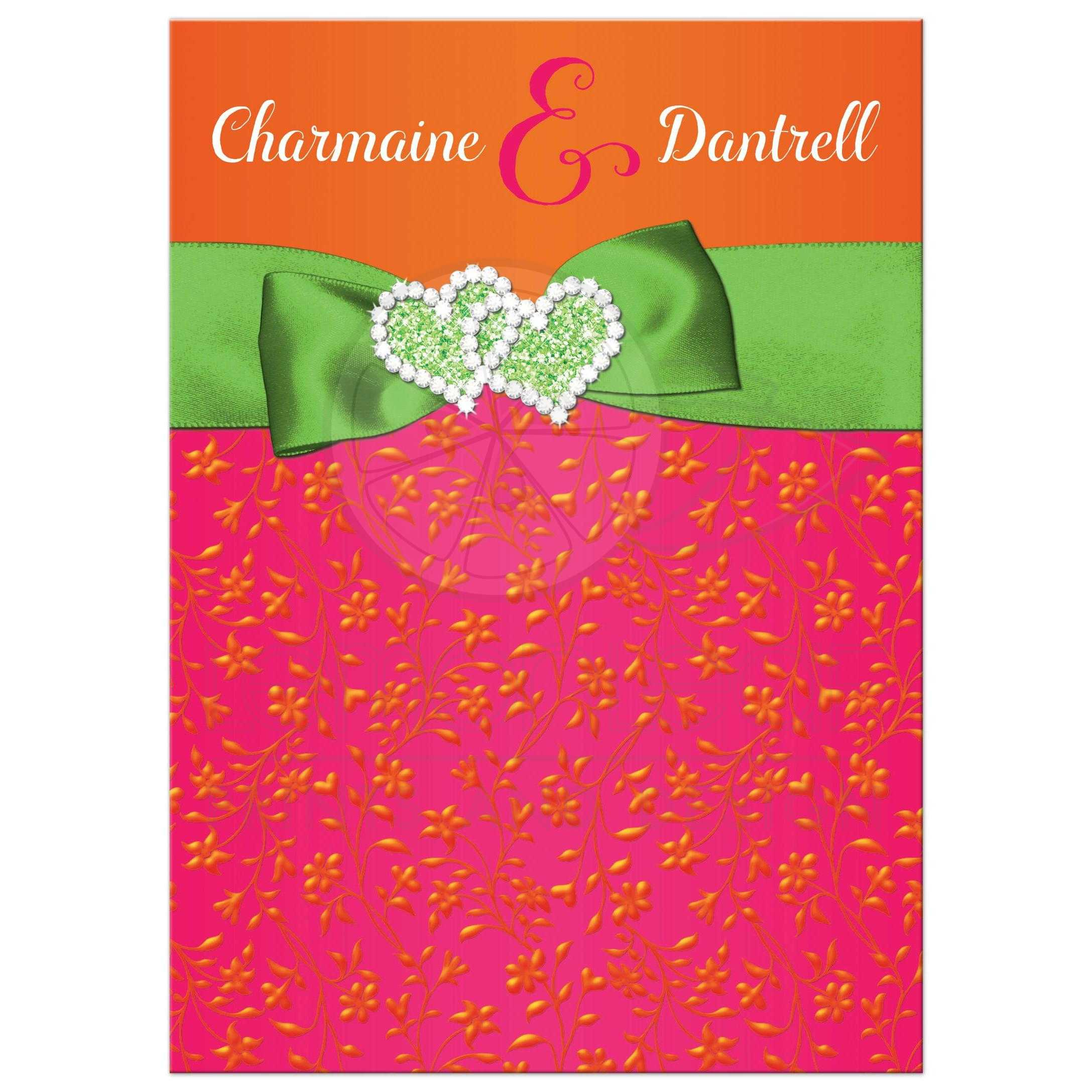 Expensive wedding invitation for you: Red and lime green wedding ...