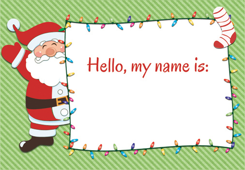 This is an image of Crazy Christmas Name Tags Printable