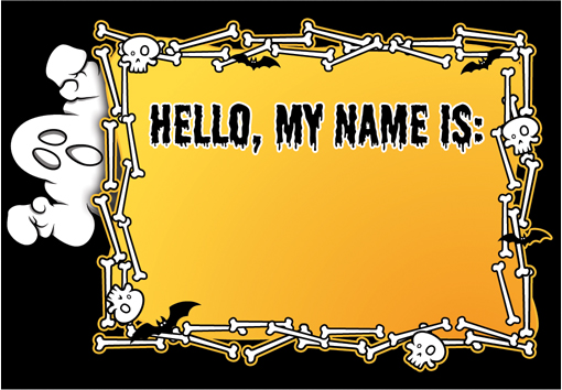 free printable Halloween party name tags