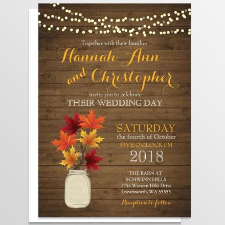 Fall or Autumn Wedding Invitation Ideas – Fall Invitations for Weddings