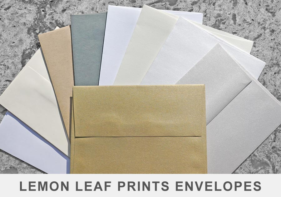Lemon Leaf Prints Envelope Selection