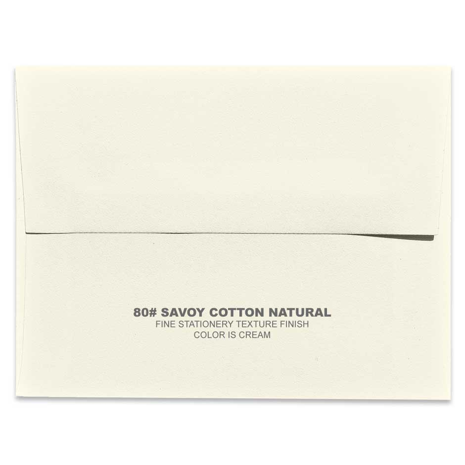 Lemon Leaf Prints Savoy Cotton Natural Envelope