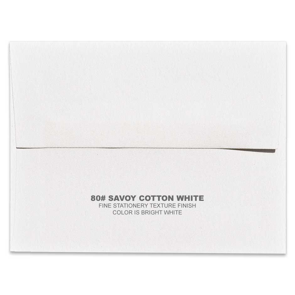 Lemon Leaf Prints Savoy Cotton White Envelope