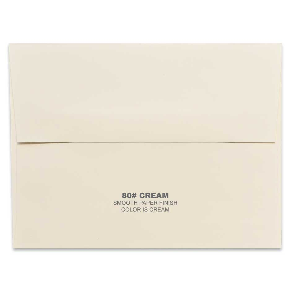 Lemon Leaf Prints Cream Envelope