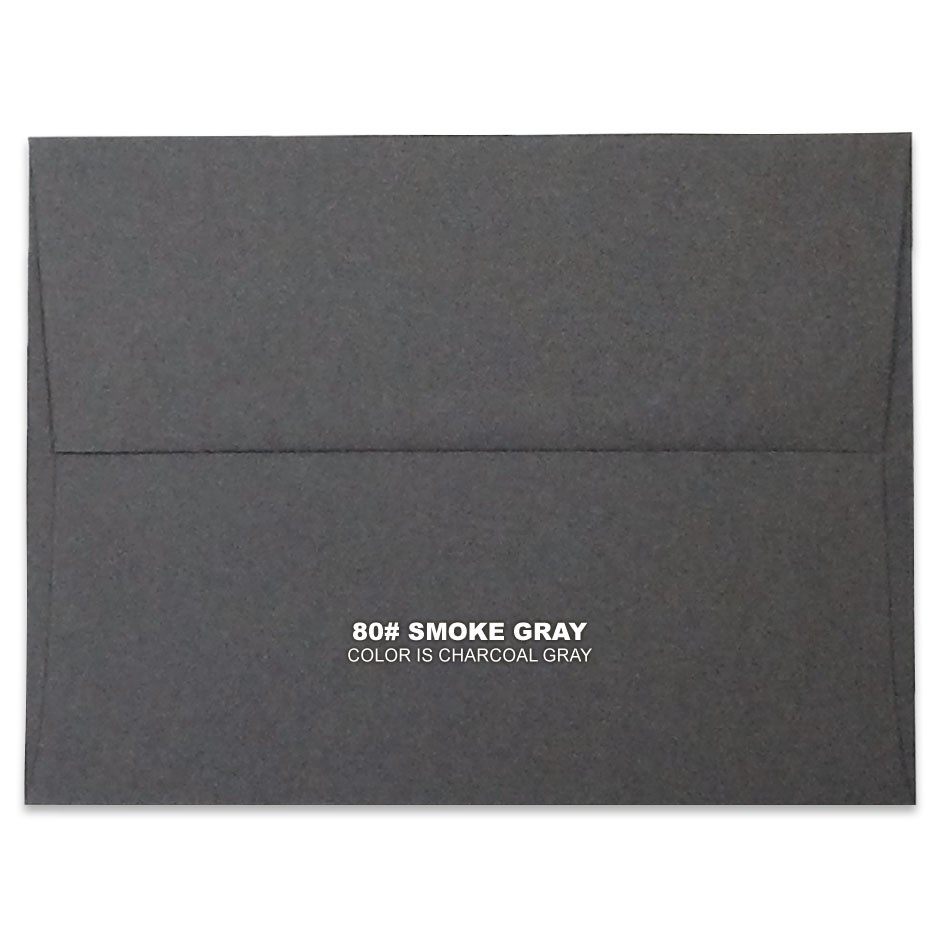 Lemon Leaf Prints Smoke Gray Envelope