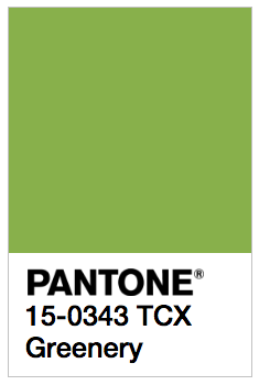 Pantone's greenery color