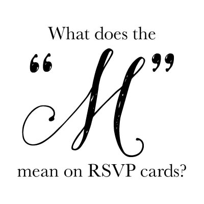 What does the m mean on rsvp cards stopboris Choice Image