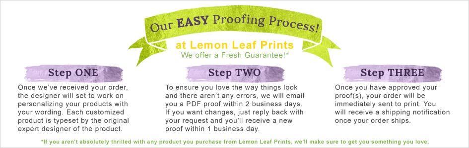 Our easy proofing process at Lemon Leaf Prints