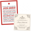 Baptism / Christening, Holy First Communion, Confirmation, Bar Mitzvah, and Bat Mitzvah invitations and matching stationery