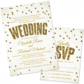 Wedding invitations and enclosure cards