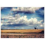 Clouds over farmland hdr landscape art print
