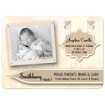 Elegant Blush Floral New Baby Birth Announcements