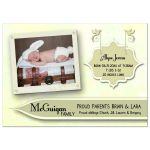 Elegant Pale Yellow Floral New Baby Birth Announcements
