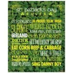 8x10 Art Print - Rules for St. Patrick's Day