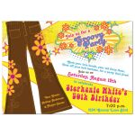 50th Birthday Invitation | 70's Disco Bell Bottoms Front