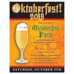 Oktoberfest Invitation | Beer and Fall Leaves