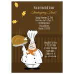 Thanksgiving Day Feast Dinner Invitation