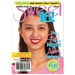 Teen celebrity or fashion faux magazine cover ​photo sweet 16 birthday party invitation