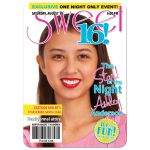 Teen celebrity or fashion faux magazine cover photo sweet 16 birthday party invitation