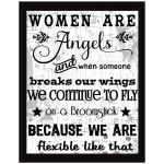 11x14 Wall Art Typography - Women Are Angels