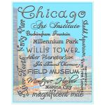 8x10 Wall Art of Tourist Stops in Chicago
