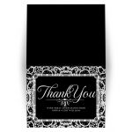 Elegant Black White Thank You Card