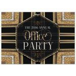 Stylish glam office party invitation