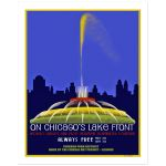 8x10 Digitally Restored Vintage Chicago Buckingham Fountain Wall Art