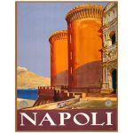 Digitally Restored 11x14 Vintage Art Print of Napoli Italy