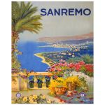 Digitally Restored 8x10 Vintage Art Print of San Remo Italy