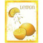Contemporary Grunge Themed Lemon Poster Art