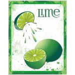 Contemporary Grunge Themed Lime Poster Art
