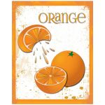 Contemporary Grunge Themed Oranges Poster Art