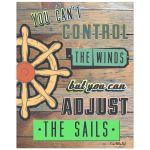 You Can't Control The Winds Inspirational Quote Poster