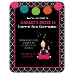 Sweet 16 Retro Sleepover Party Invitation