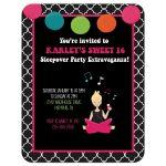 Sweet 16 Retro Sleepover Party Invitation