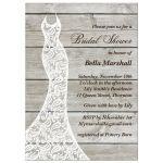 barn board bridal shower invitation