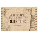 Recipe Card - Antique Airmail Italian Bridal Shower