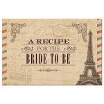Recipe Card - Antique Parchment Parisian Bridal Shower
