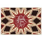 red flame thank you mandala postcard