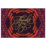 Geometric Disco Thank You Postcard
