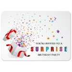 Colorful Confetti Surprise Birthday Party Invitation
